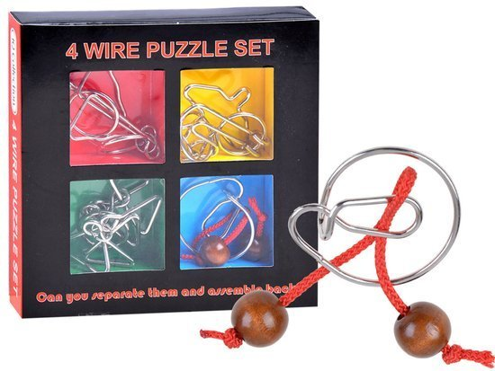 4 curly metal puzzle ZA1132