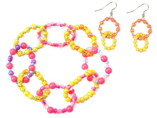 A set of colorful beads earrings DIY ZA1550