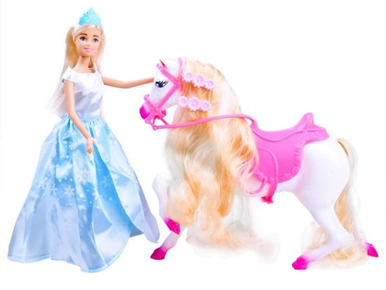 Anlily Princess on a Stallion A Doll Horse ZA2458