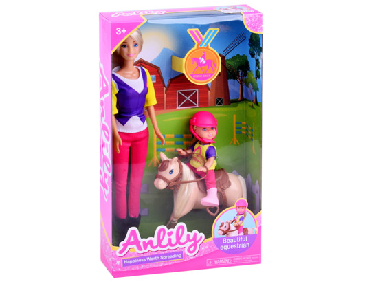 Anlily set of 2 dolls pony horse ZA2811