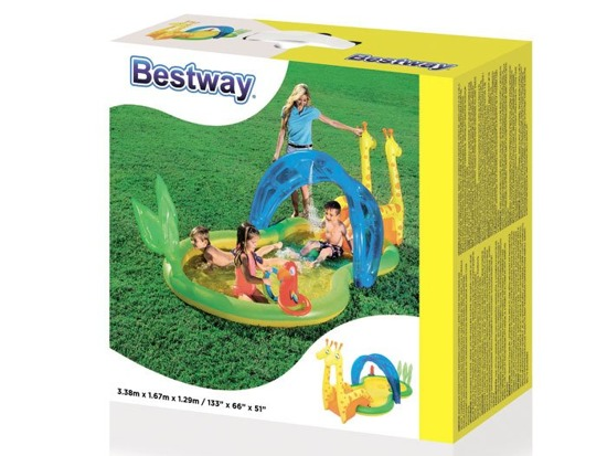Bestway Inflatable playground zoo paddling 53060
