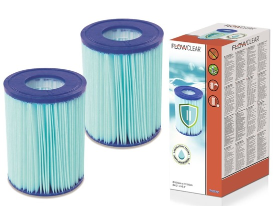 Bestway antibacterial FILTER type II 2 pcs 58503