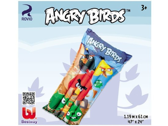 Bestway inflatable mattress Angry Birds 119 cm 96104