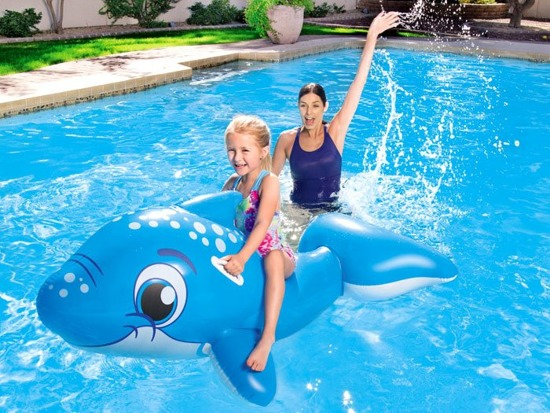 Bestway inflatable mattress dolphin to swim 41087