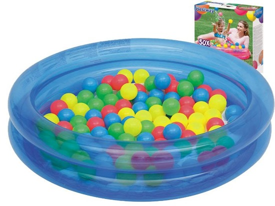 Bestway paddling pool + 50pcs ball. Wed 91 51085