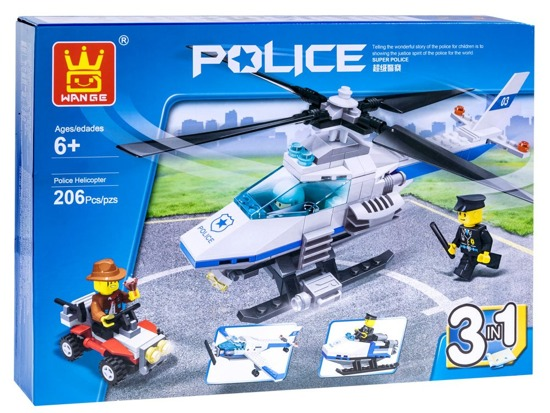 Blocks POLICY HELIKOPTER 3in1 206ele ZA2193