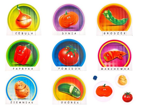 Bold puzzle game Vegetables Preschooler GR0199