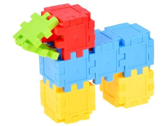 Building blocks colorful creative waffles 100 pcs. ZA3184