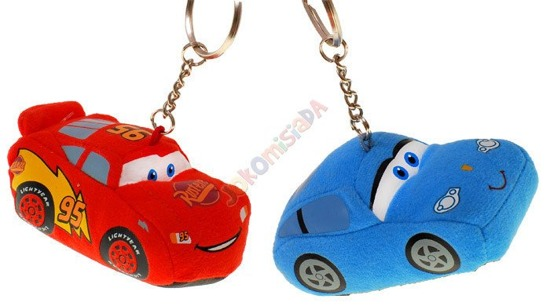 CHAIN ​​Keyring Toy Cars ZygzakMcqueen or Sally Za0400