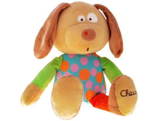 CHICCO Colors cuddly mascot Happy Dog ZA1055