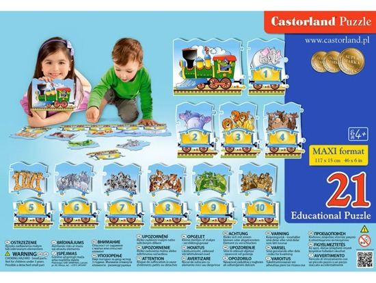 Castorland Puzzle Educational Train CA0024