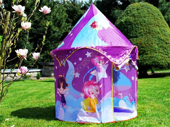 Charming round purple TENT for fairies ZA1475