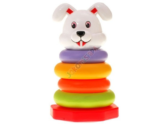 Color Pyramid Tower with wheels bear rabbit ZA0808