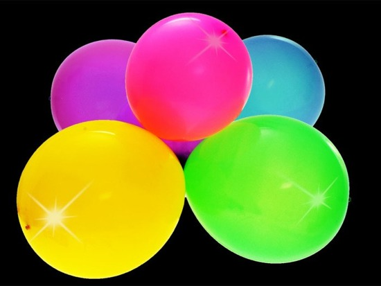 Colorful balloons glowing LED 5 pcs 30 cm FOR ZA1591
