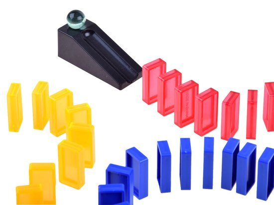 Colorful blocks puzzle Domino 92 elements GR0439