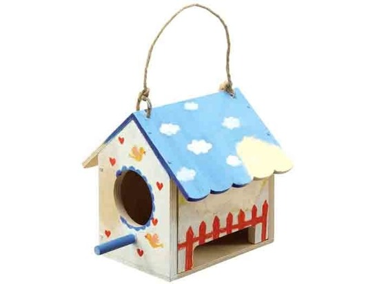 Cottage feeder birds wooden paints ZA1811