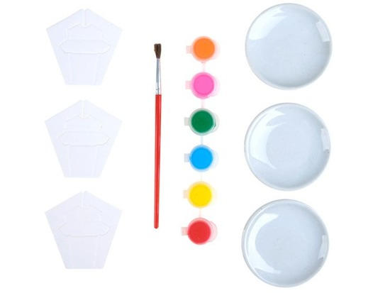 Creative set of saucers for painting ZA2116