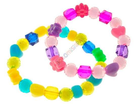 Crystal colored plastic beads ZA1078