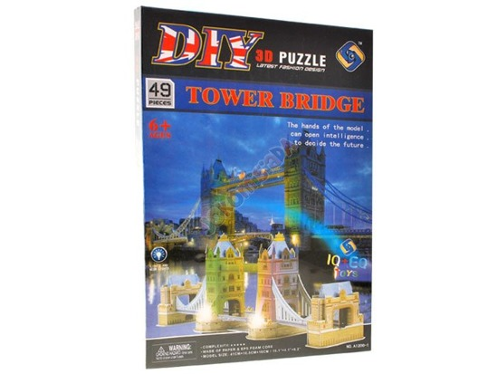 Drawbridge Glowing 3D Puzzle 49 elem. ZA1106