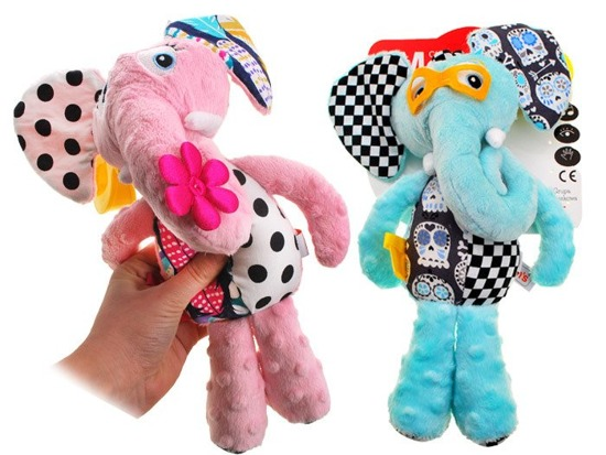 Educational Cuddly toy Elephant with clip ZA2013