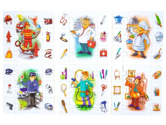 Educational jigsaw puzzle Who will I stay? GR0304