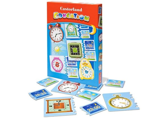 Educational puzzle clock which time E-067 CA0029