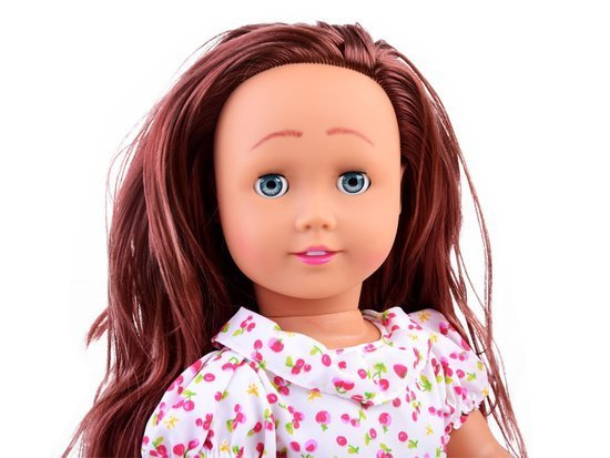 Elegant large doll with long hair 45cm ZA2480