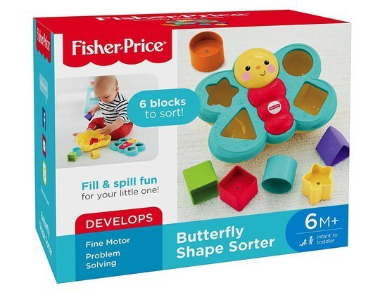 Fisher-Price Colorful Butterfly Sorter blocks ZA3627