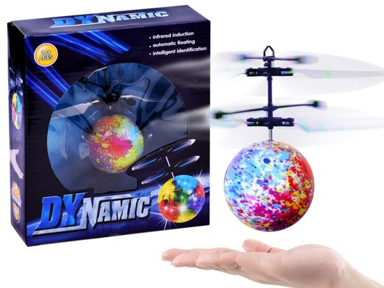 Flying glowing Disco ball controlled by hand ZA2530