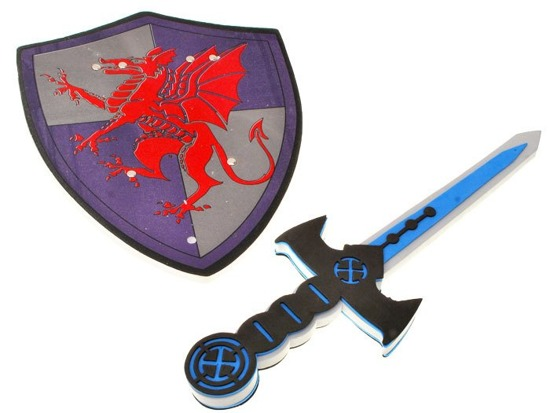 Foam Sword & Shield for knight ZA1278