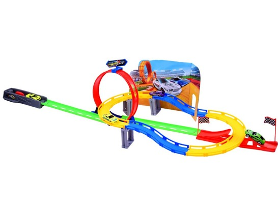 Freaky Rally Track 2 in 1 launcher + 4 toy cars ZA2584