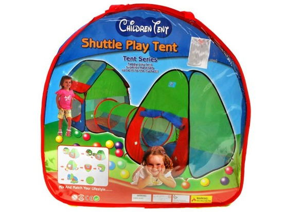 Garden Tent with Tunnel colorful cottages ZA1025