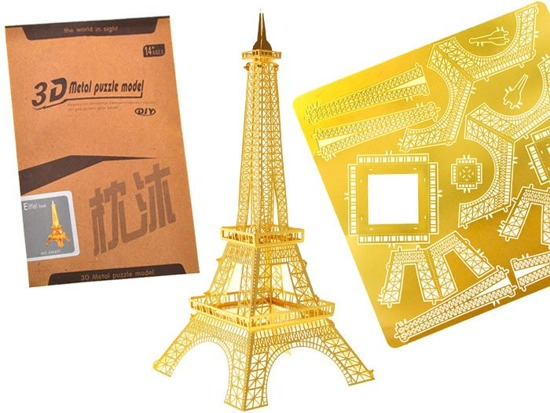 Gold Metal 3D Puzzle Eiffel Tower ZA1716