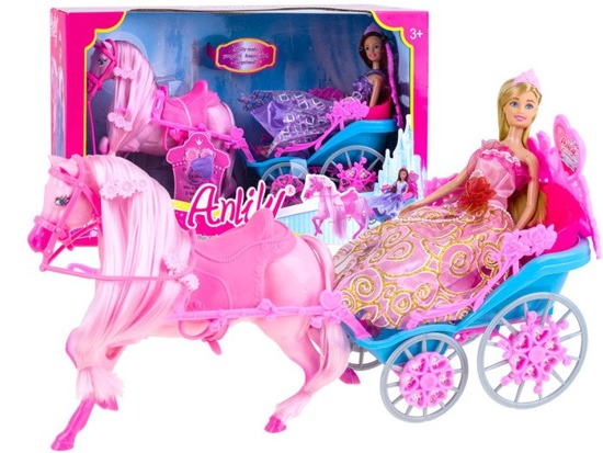 Horse-drawn carriage with a doll ZA2173