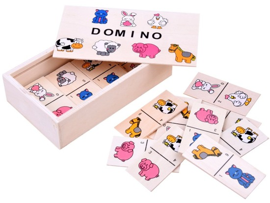 Illustrated Domino for children of animals ZA2515