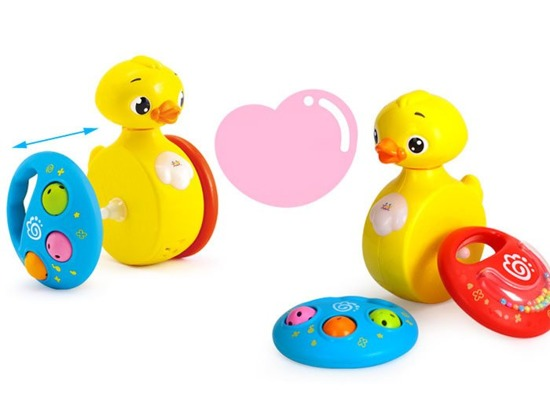 Interactive duck with sound rattles ZA1186