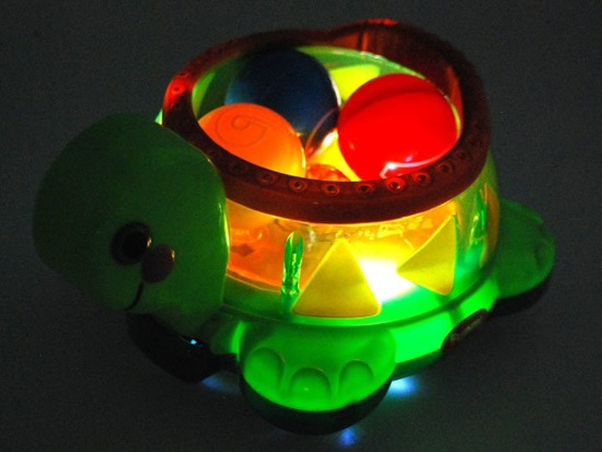 Interactive music turtle with beads ZA1607