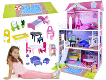 LARGE BARBIE DOLLS wooden house furniture ZA2122