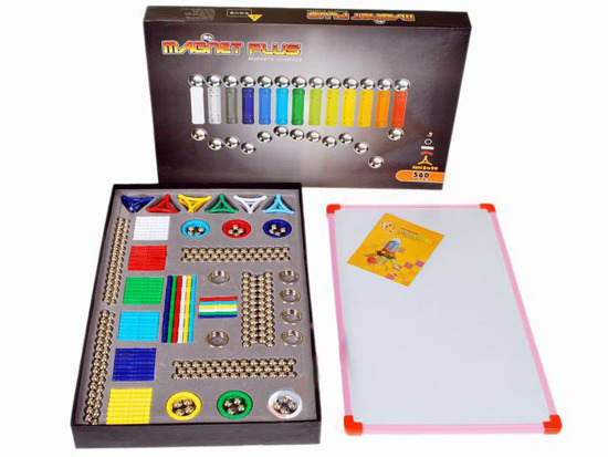 MAGNETIC BLOCKS 560szt + Whiteboard ZA0111