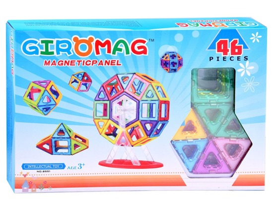 Magnetic colored blocks PANELS 46pcs ZA2507