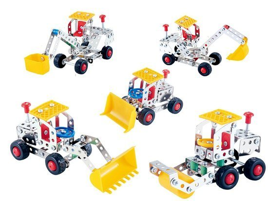 Metal construction blocks 139 elements 5in1 ZA3541