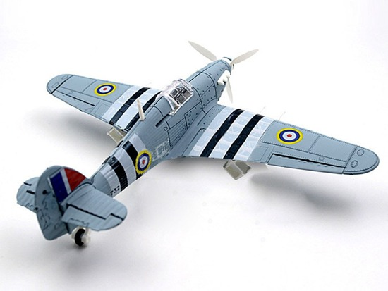 Model for folding Hawker Hurricane ZA2588 aircraft