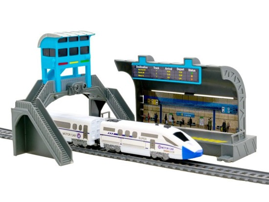 Modern train RAIL STATION bridge RC0386