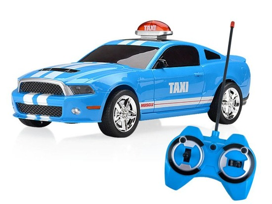 Muscle Crazy Taxi 3 Radio Control Stunt Rolling Car With 3D Light & Front Wheel Rotates360 RC0401