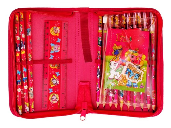 Pencil case with pencils Ponies equipment Filly ZA1447