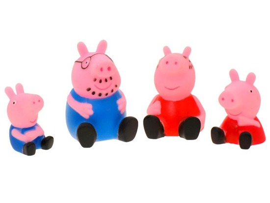 Peppa Pig charming rubber figurines 4 pcs. ZA0885