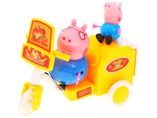 Peppa Pig on a motorbike Georg FIGURES FOR 1595