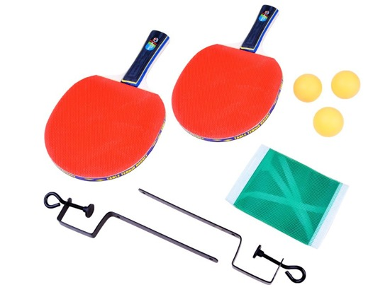 Ping-pong table set PALLETS net + balls SP0564