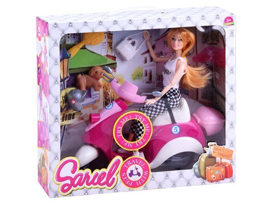 Pink scooter doll with motor accessories ZA2131