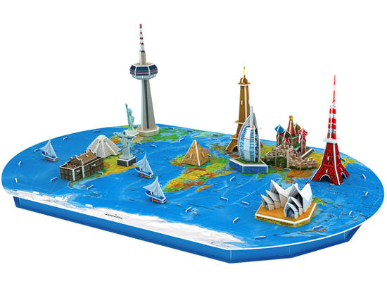 Puzzle 3D Spatial Earth map of the world ZA1581